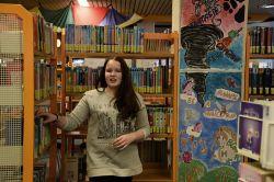 Kunstsäulen in der Remigius-Bücherei